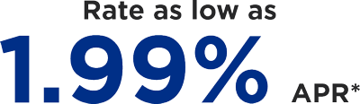 Rates as low as 1.99% APR*
